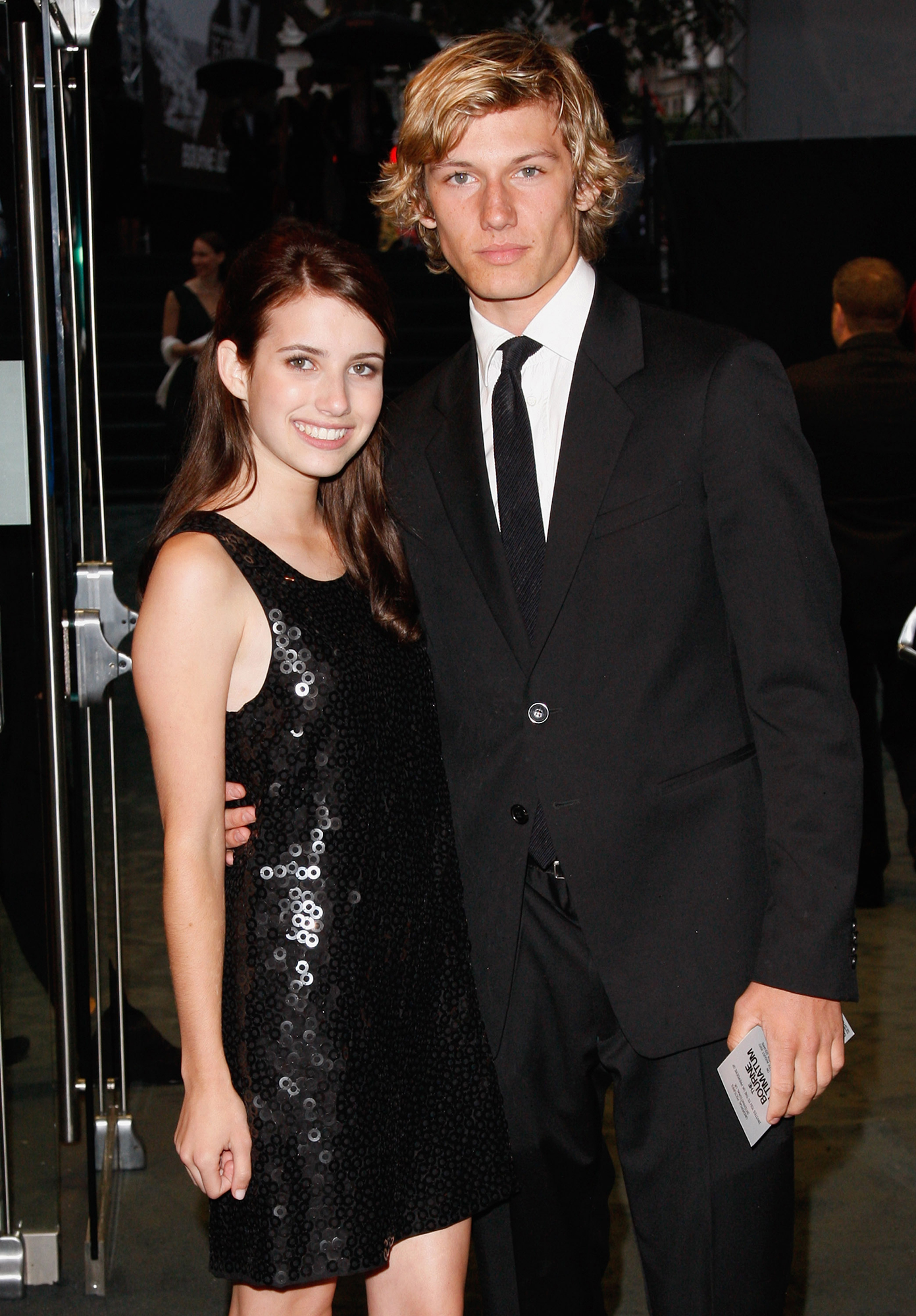 Emma Roberts' Dating History - Roberts' first high-profile romance was with Pettyfer, whom she met on the set of 2008's Wild Child. The duo dated for a year and the Beastly star even got the Nickelodeon alum's initials tattooed on his finger .
