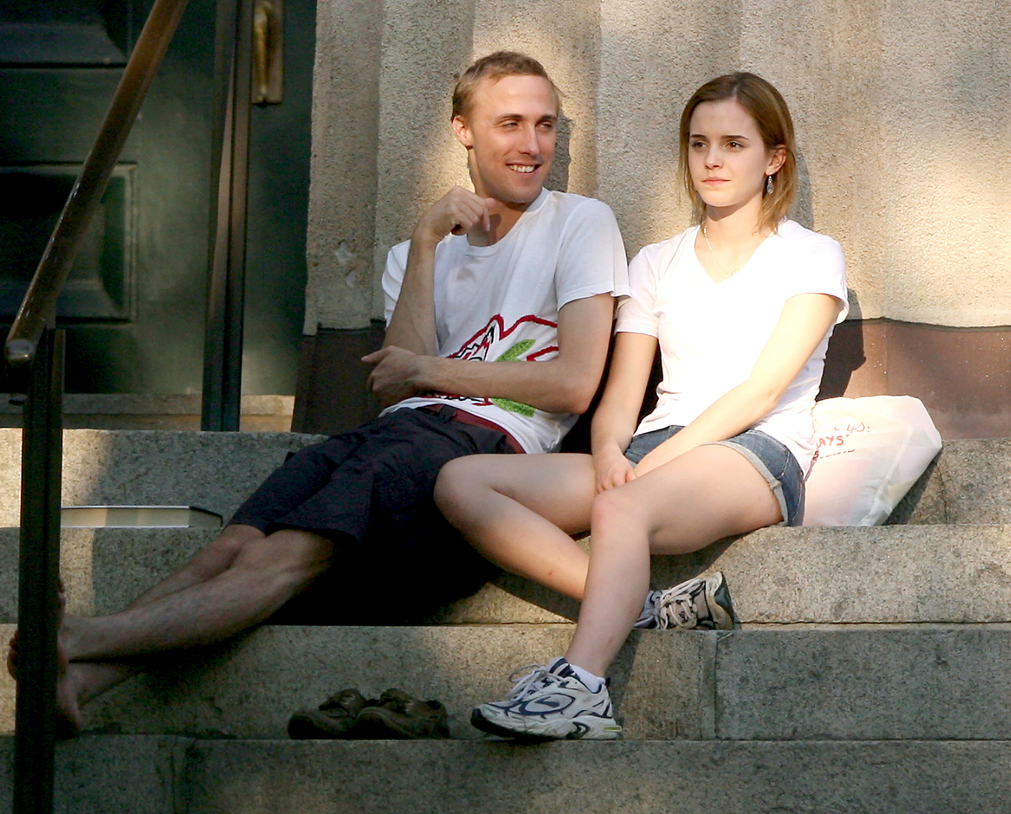 Emma-Watson-Jay-Barrymore - The Harry Potter alum started dating the British financier, who is seven years her senior, in August 2008, but split seven months later. Distance is reported to be the reason for their breakup, as Watson was attending Brown University in Rhode Island while Barrymore remained in England.