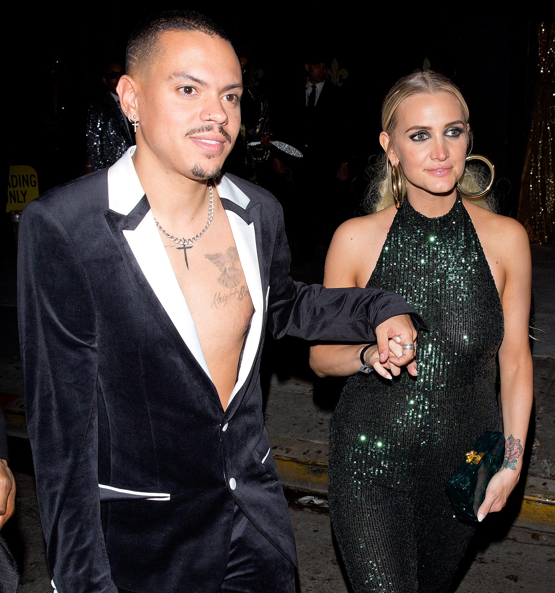 """Evan-Ross-and-Ashlee-Simpson-diana-ross-birthday - Diana's son Evan Ross and his wife, Ashlee Simpson, sang her 1976 song """"Love Hangover"""" on Tuesday night."""