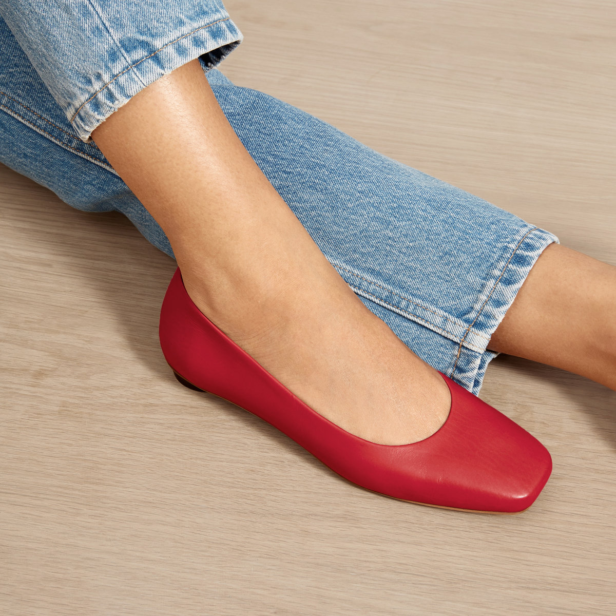 Everlane Flats Red