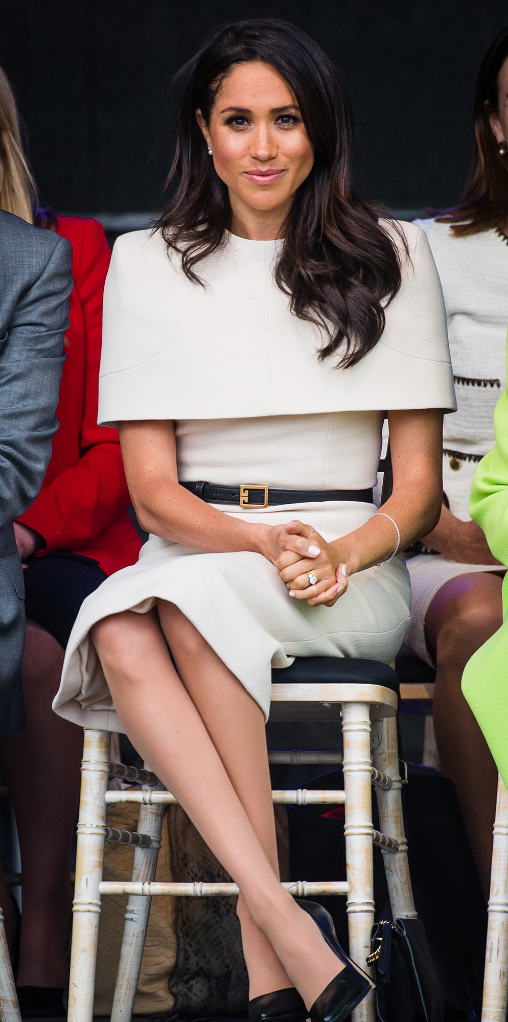 """Everything Duchess Meghan Has Said About Her Diet and Fitness Tricks - """"French fries – I could eat French fries all day,"""" the Duchess of Sussex (in Widness, England on June 14, 2018) told Best Health . """"And I love pasta. I love carbs — who doesn't love a carbohydrate? But of course, when I'm filming, I'm conscious of what I eat. I try to eat vegan during the week and then have a little bit more flexibility with what I dig into on the weekends. But at the same time, it's all about balance. Because I work out the way I do, I don't ever want to feel deprived. I feel that the second you do that is when you start to binge on things. It's not a diet; it's lifestyle eating."""""""