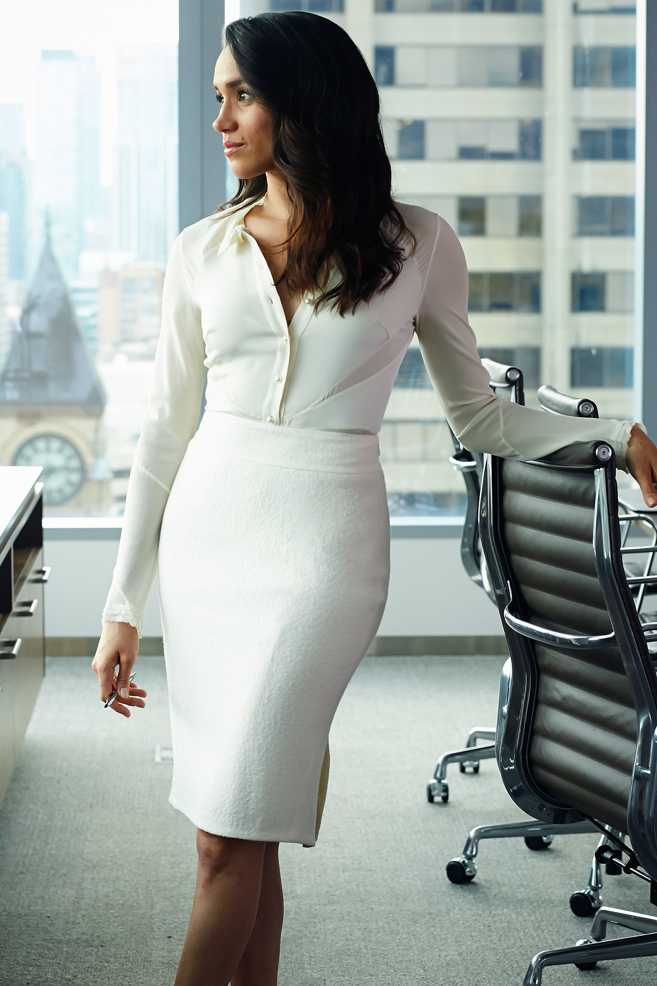 """Everything Duchess Meghan Has Said About Her Diet and Fitness Tricks - Because her mother was a yoga teacher, """"that practice is in my blood,"""" Meghan (here as Rachel Zane on Suits ) told Women's Health UK ."""