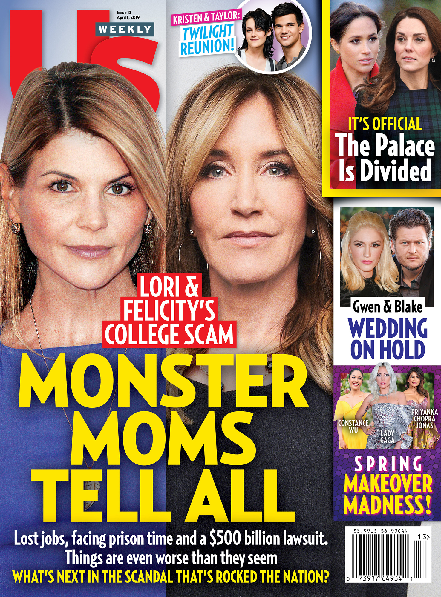 Felicity Huffman's 'Shame and Humiliation Are Unfathomable' - UW1319 Us Weekly Cover Felicity Huffman and Lori Loughlin