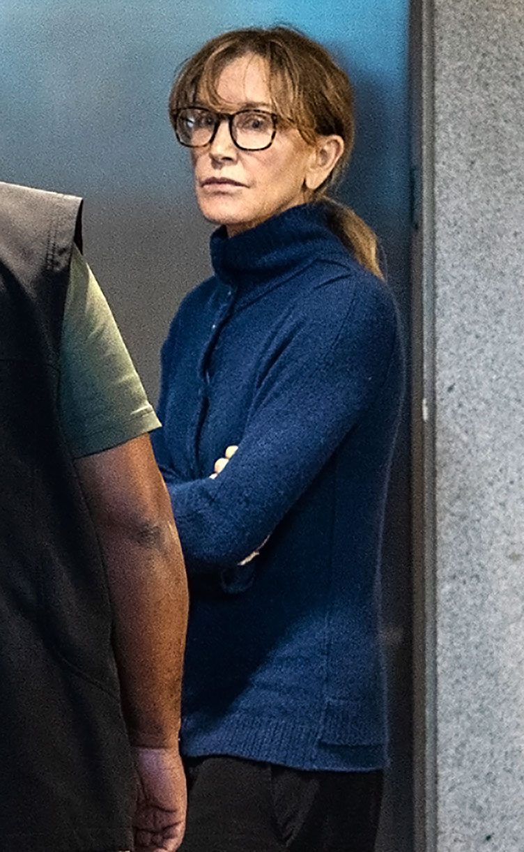 Felicity Huffman's 'Shame and Humiliation Are Unfathomable' - Felicity Huffman inside the Edward R. Roybal Federal Building and U.S. Courthouse on March 12, 2019 in Los Angeles, California.