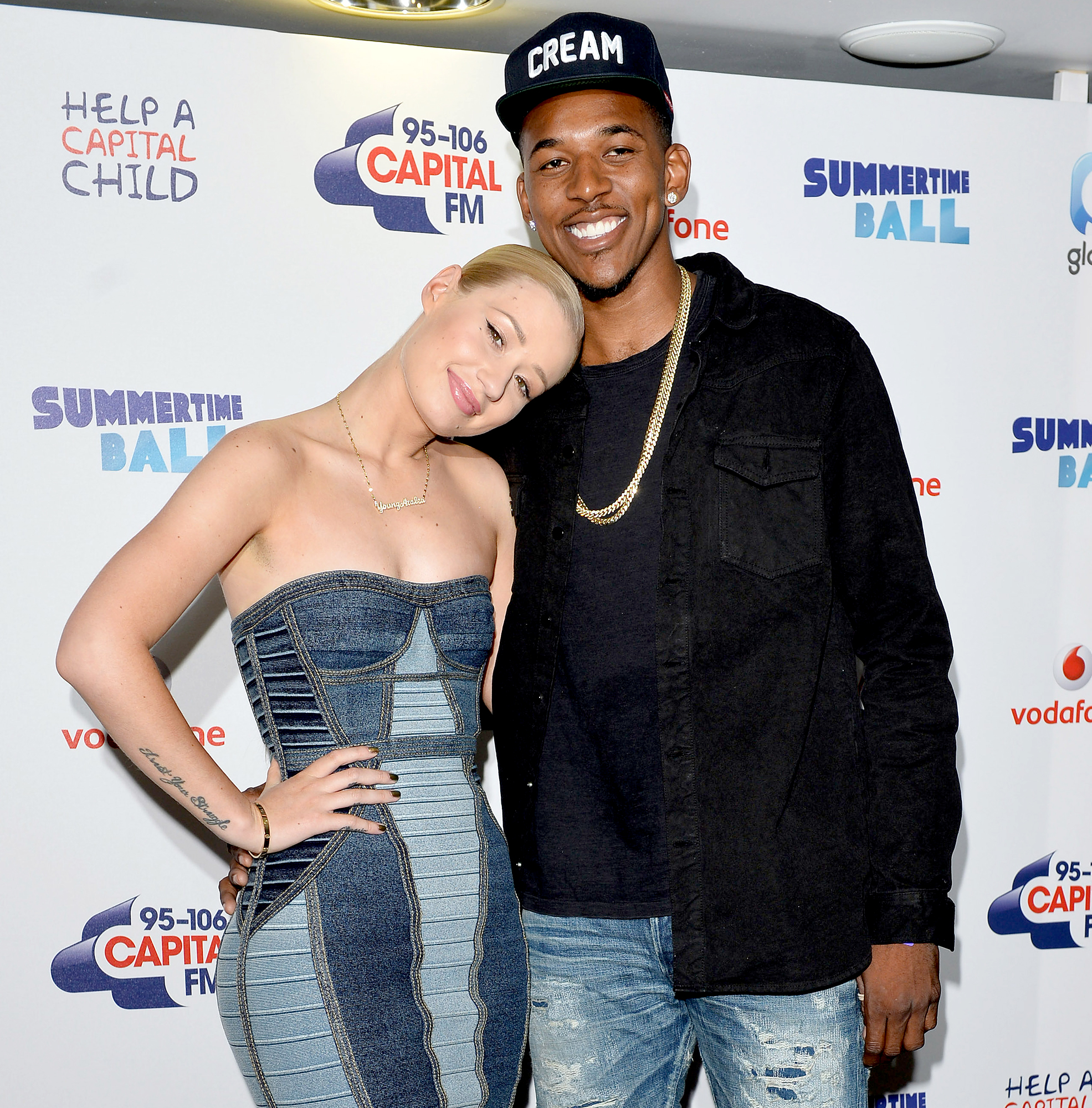 "Iggy-Azalea-and-Nick-Young - The basketball player made the rapper his Woman Crush Wednesday on Twitter before he ""got to mackin,'"" he told Billboard in November 2014. Iggy noted, ""I actually didn't speak to [him] online."""
