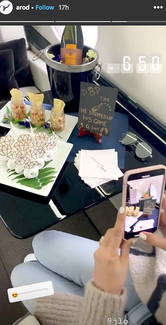 Jennifer Lopez, Alex Rodriguez Celebrate on Private Jet Post-Proposal