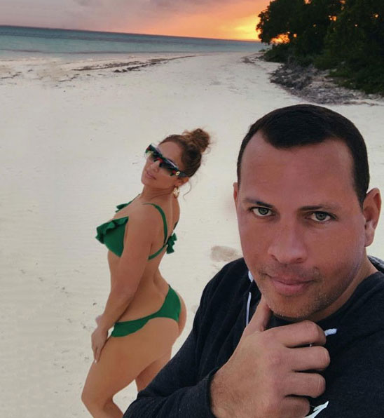 Jennifer Lopez Posts a Sexy Bikini Pic With Boyfriend Alex Rodriguez on a Tropical Getaway