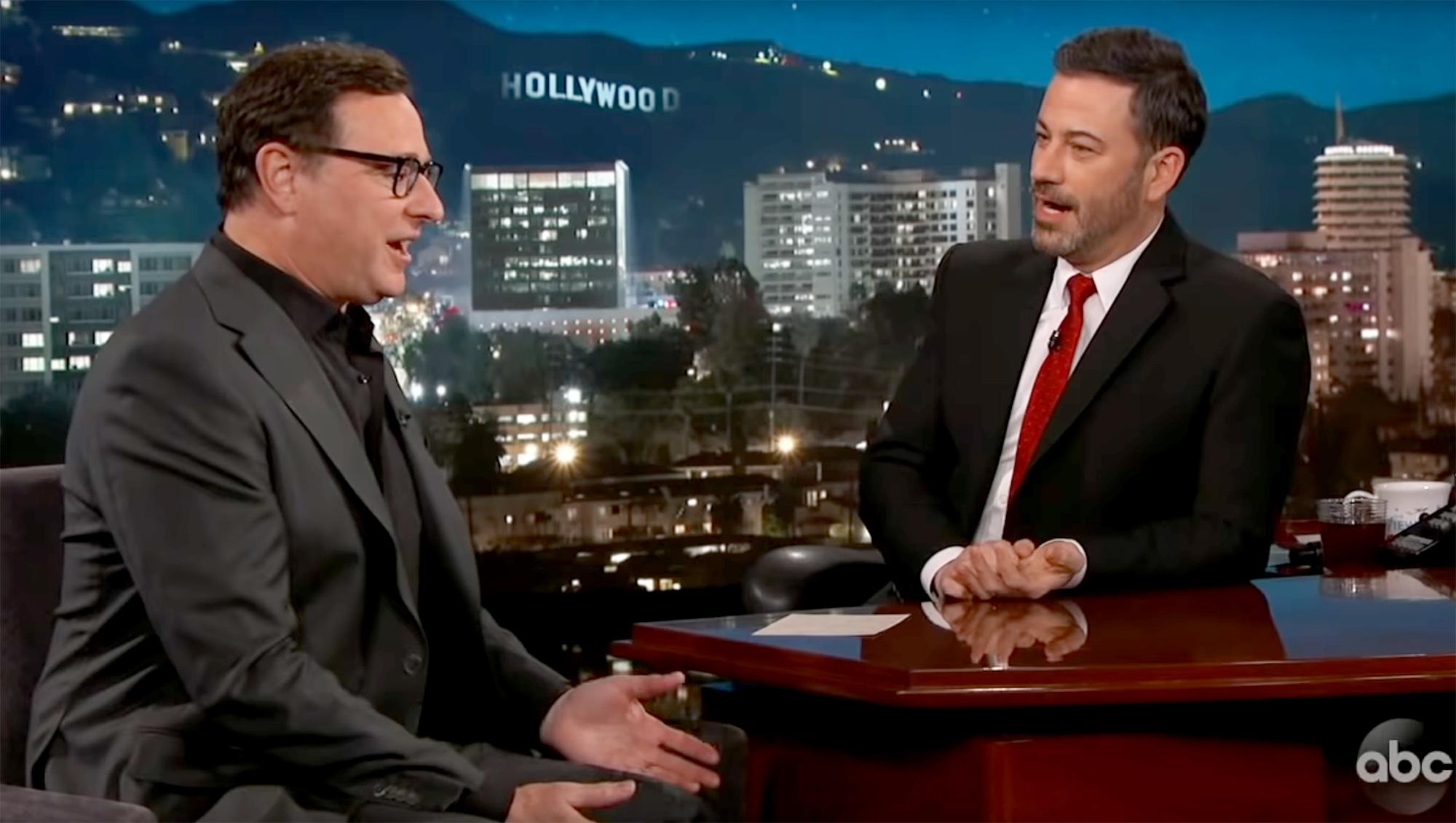 Jimmy Kimmel Ignores Lori Loughlin Scandal While Interviewing Bob Saget