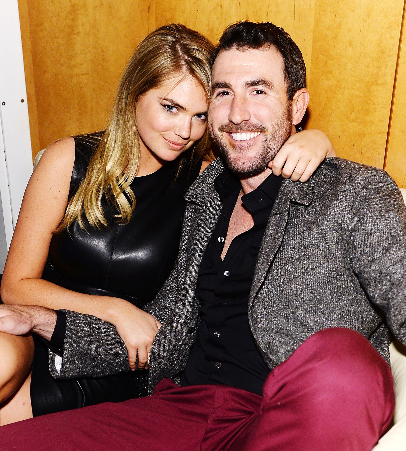Justin Verlander Gushes About Kate Upton's 'Tremendous' Transition to Motherhood Four Months After Welcoming Daughter - Kate Upton and Justin Verlander attend the GQ Super Bowl Party 2014 sponsored by Patron Tequila, Van Heusen, and Miller Fortune on January 31, 2014 in New York City.
