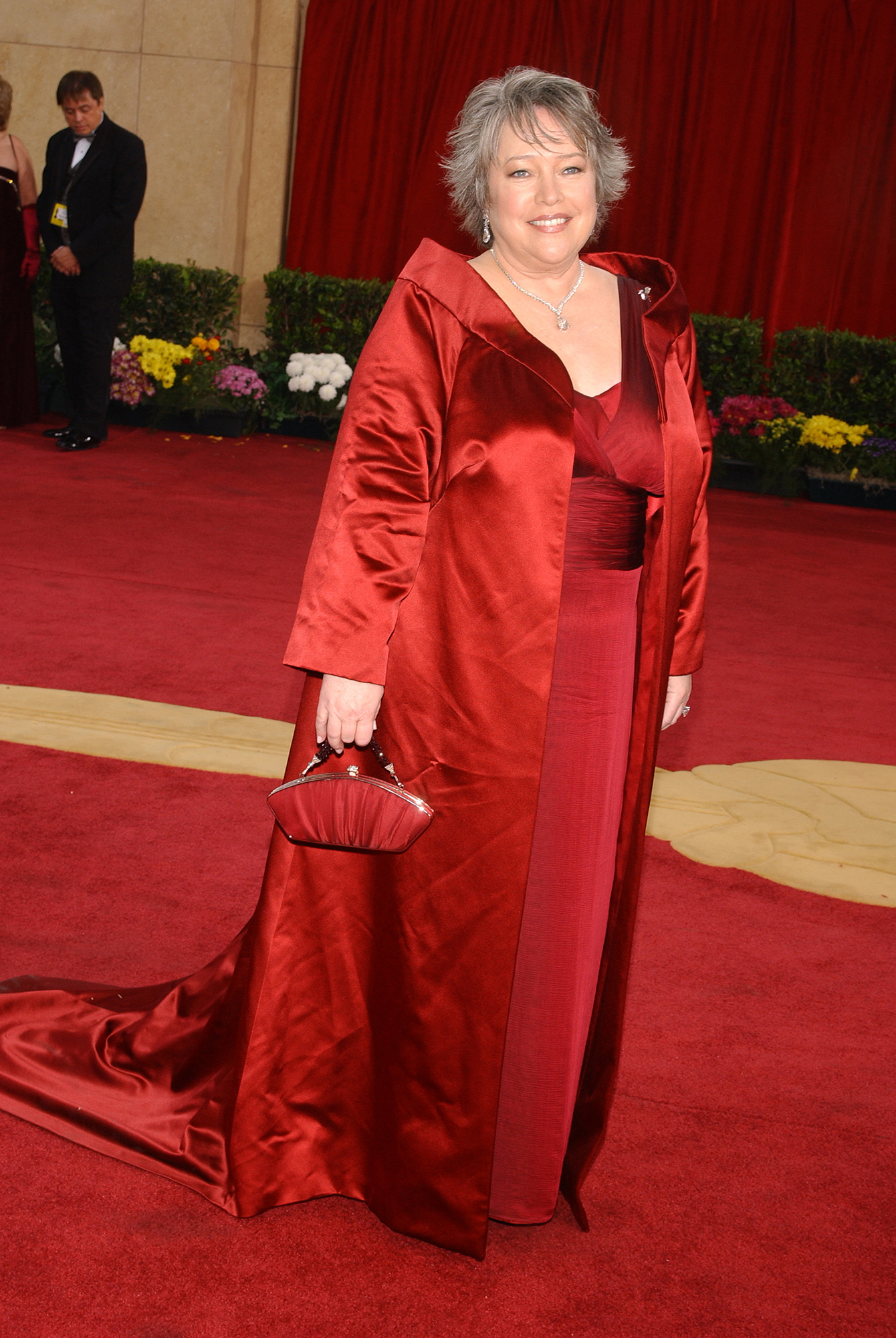Kathy Bates Is Loving Life 60 Lbs Lighter - Kathy Bates (dress by Eric Gaskins; diamond jewelry by Harry Winston) arriving at the 75th Annual Academy Awards.