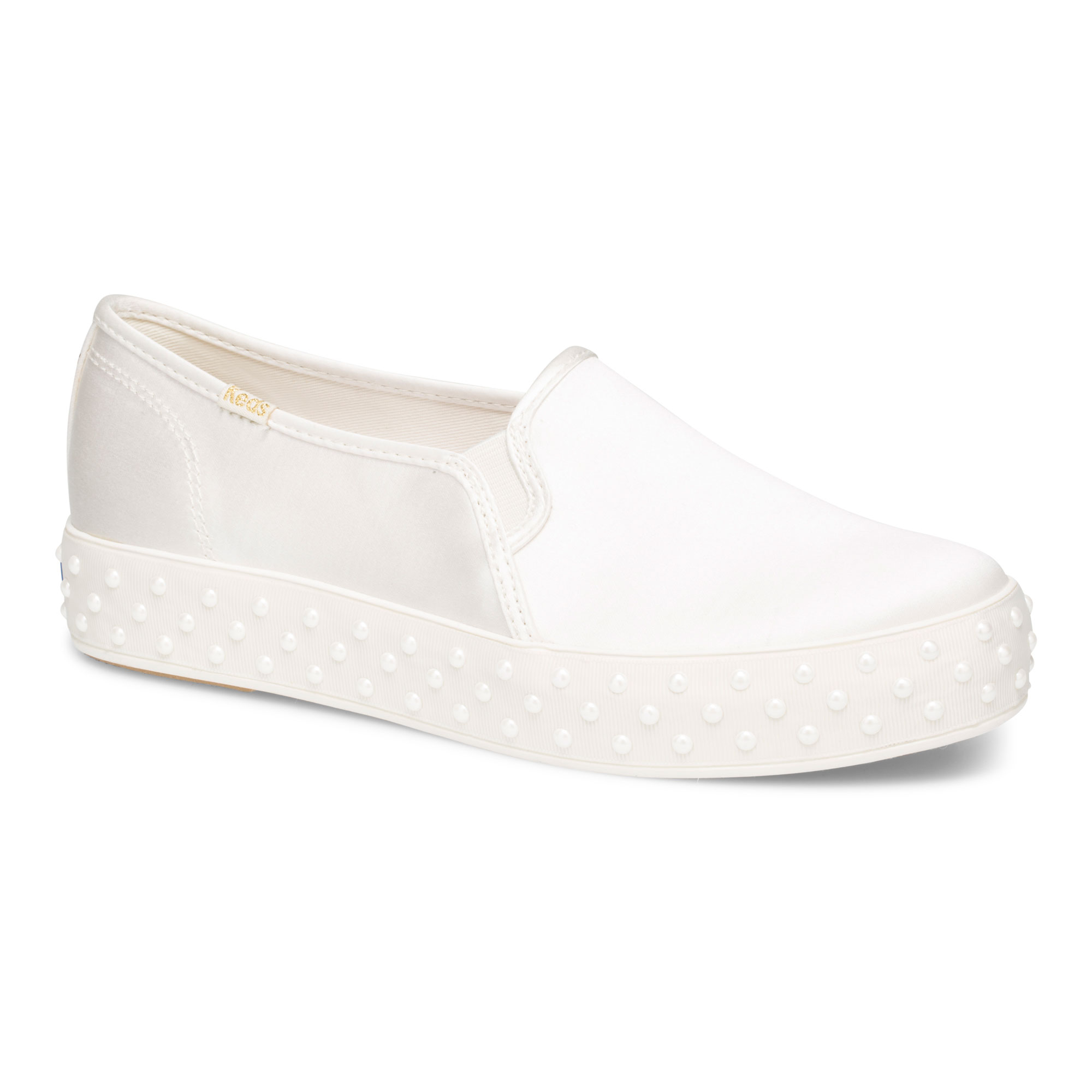 e08ee5855f0b Keds x Kate Spade New York Triple Decker Satin with Pearl Foxing