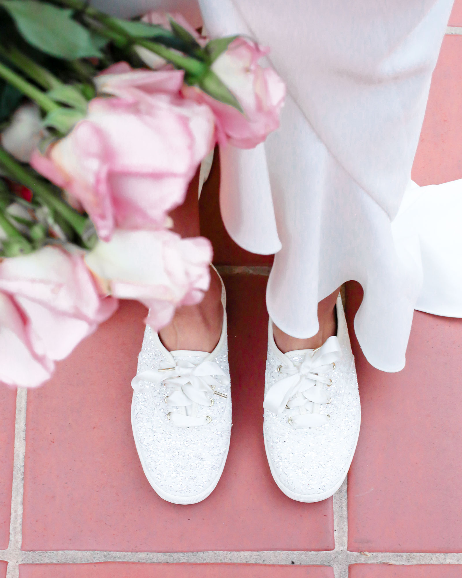 6b9f25acb618 The New Keds x Kate Spade New York Bridal Sneakers Are Spring Wedding #Goals
