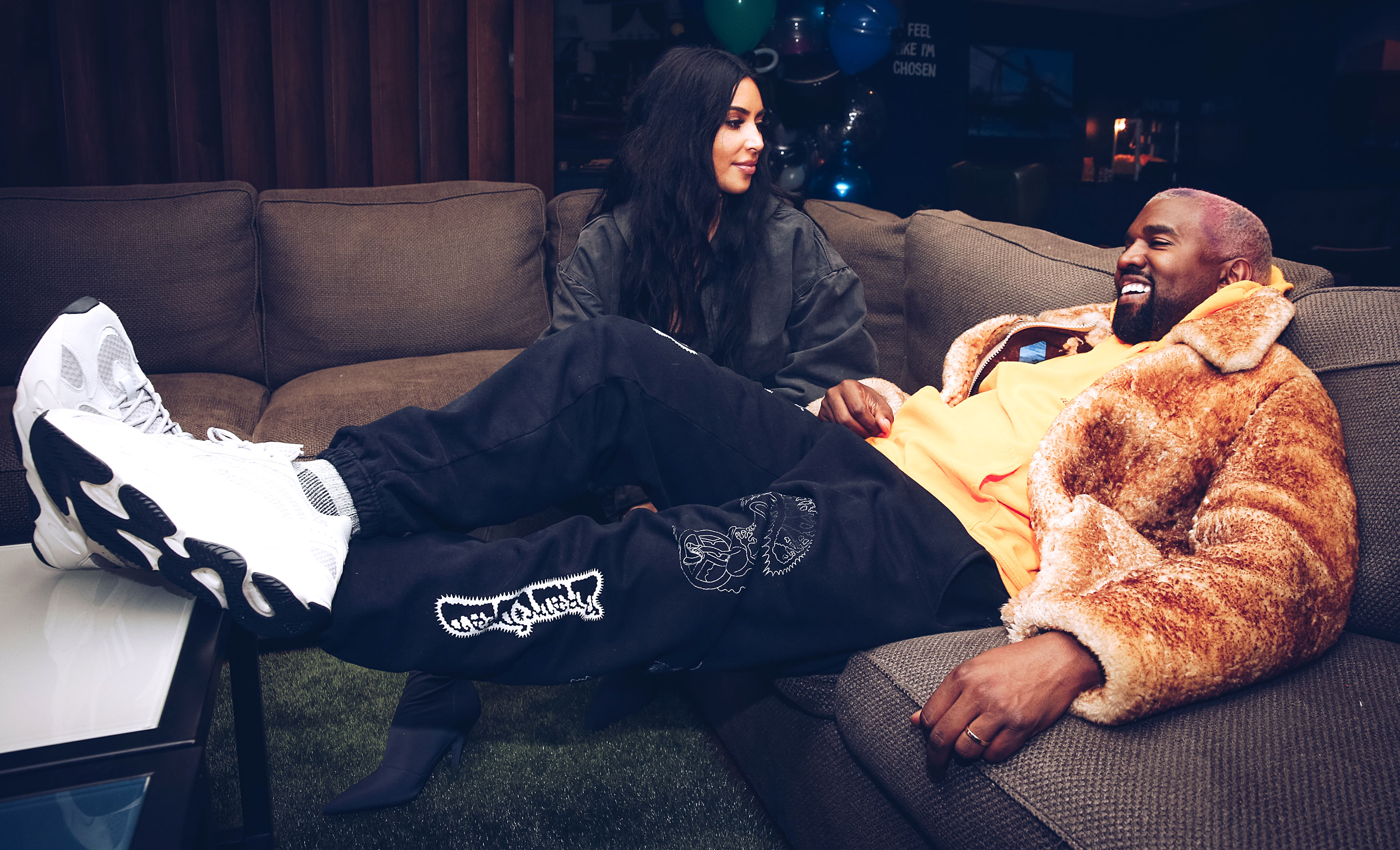 Kim Kardashian and Kanye West Welcome Their Fourth Child Via Surrogate - Kim Kardashian West and Kanye West attend the Travis Scott Astroworld Tour at The Forum on December 19, 2018 in Inglewood, California.