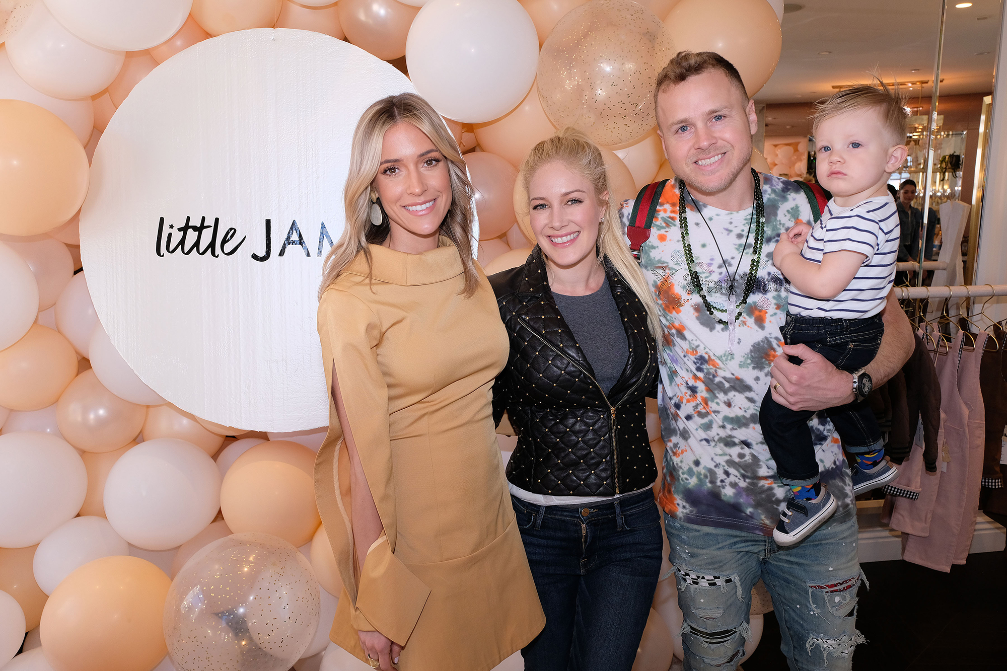 Kristin Cavallari Admits Her Husband Jay Cutler Is the 'Stricter' Parent While She Likes to 'Let Kids Be Kids' - Kristin Cavallari, Heidi Pratt, Spencer Pratt and Gunner Pratt at the 'Little James Pop Up' shop launch in Pacific Palisades on March 16, 2019.