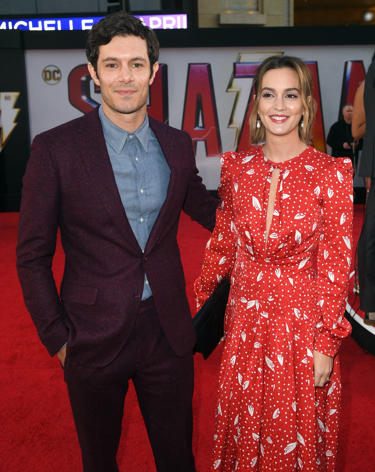 Leighton Meester and Adam Brody Steal the Show on Their First Red Carpet in More Than 2 Years - Meester and Brody will soon be costars once more. Us Weekly confirmed in February that the StartUp actor is set to appear as his wife's onscreen ex in a May episode of her sitcom Single Parents .