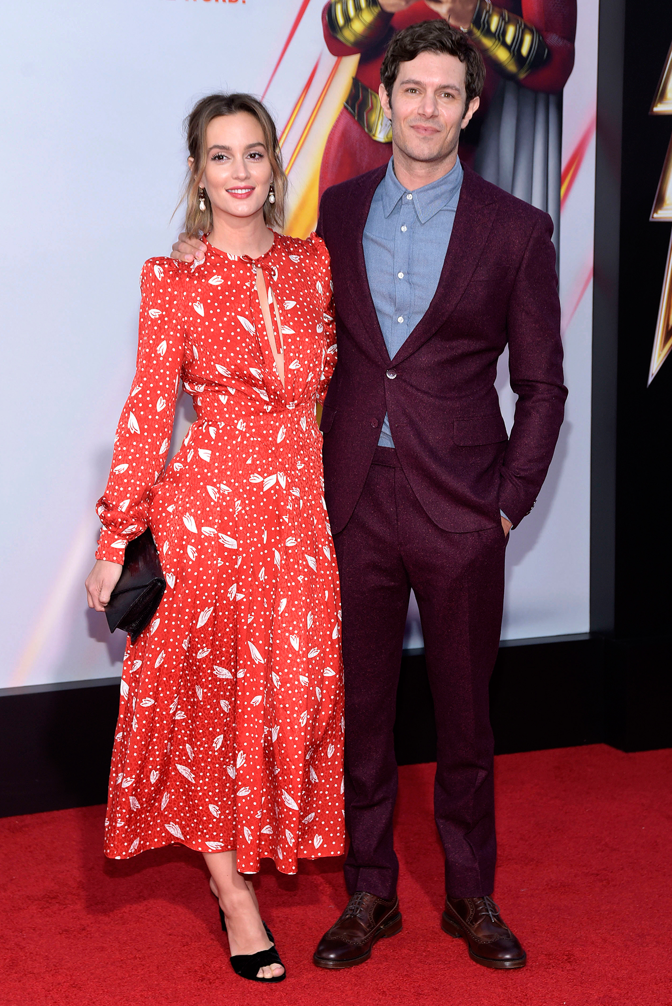 """Leighton Meester and Adam Brody Steal the Show on Their First Red Carpet in More Than 2 Years - """"I do some stuff but she definitely does the heavy lifting (figuratively),"""" Brody quipped of his home life in an August 2014 Reddit Q & A. """"Literally, I do the heavy lifting."""""""