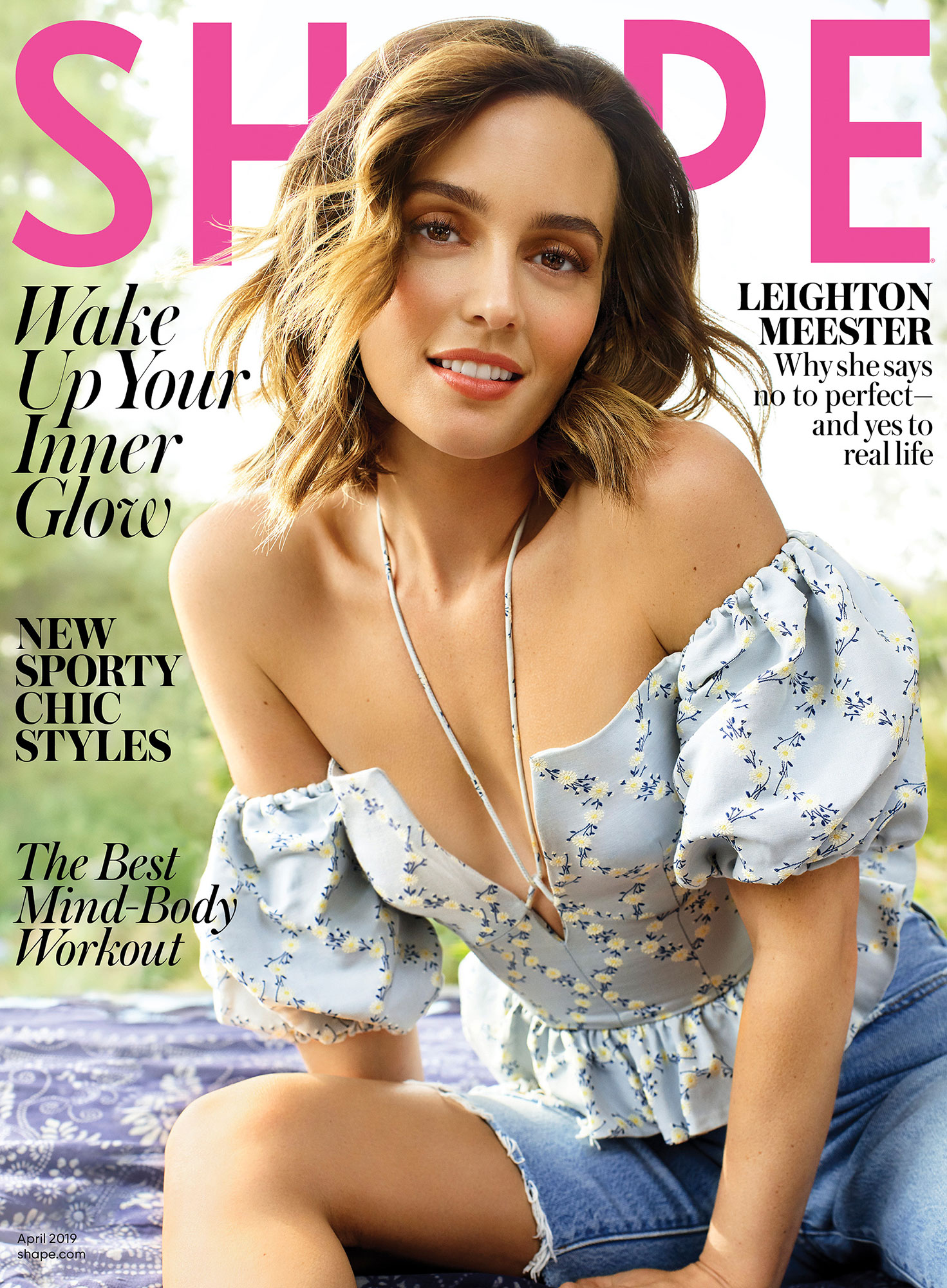 "Leighton Meester, Kim Kardashian and Other Stars That Swear by CBD Beauty - When talking with Shape magazine for her April 2019 cover story, the Gossip Girl star explained how she keeps herself centered and rejuvenated as a working mom. Along with morning tea, baths and foam rolling, she uses cannabidiol balm ""to try to reduce the stress and tension in my shoulders and hands."""