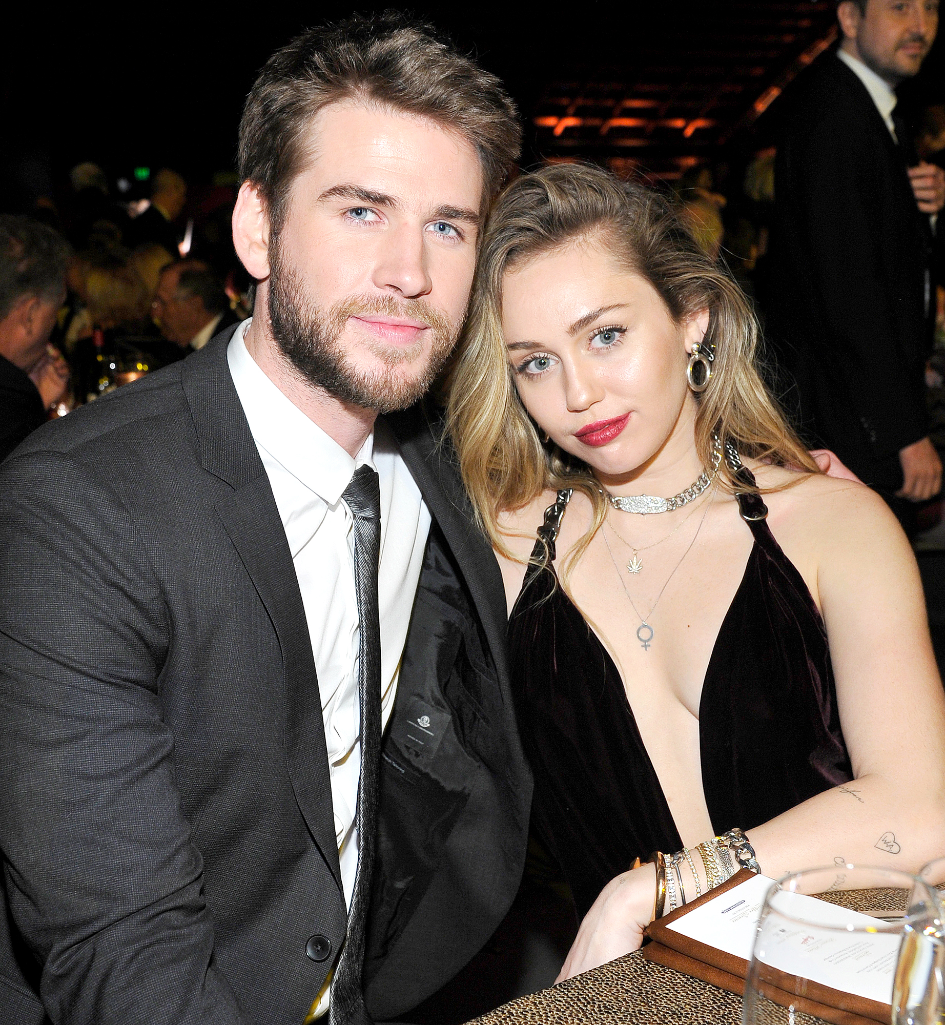 """Liam-Hemsworth-and-Miley-Cyrus-attend-the-2019-G'Day-USA-Gala - Cyrus and Hemsworth made their first public appearance as husband and wife at the G'Day USA gala in Culver City, California, in January 2019. The Hunger Games star joked on stage that he is """"a big, grown adult now"""" before thanking his """"beautiful wife."""""""
