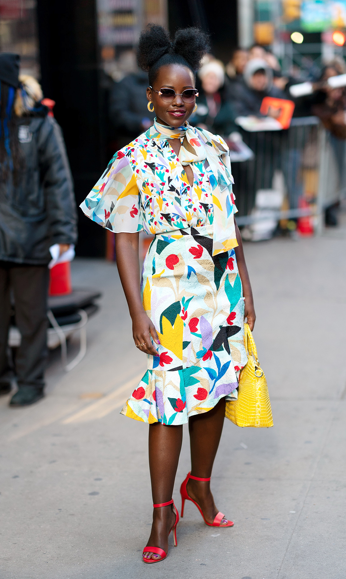 Lupita Nyong'o Can't Stop Wearing These $60 Sandals - Lupita Nyong'o at GMA on March 19, 2019 in New York City.