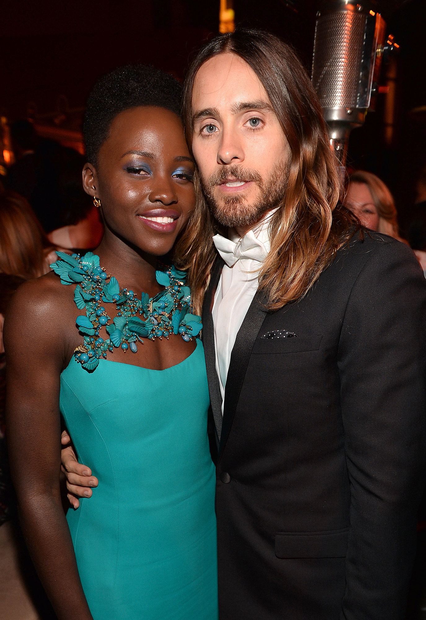 Lupita Nyong'o: There 'Was an Intimacy' With Jared Leto - Lupita Nyong'o (L) and Jared Leto attend the Weinstein Company & Netflix's 2014 SAG after party in partnership with Laura Mercier at Sunset Tower on January 18, 2014 in West Hollywood, California.