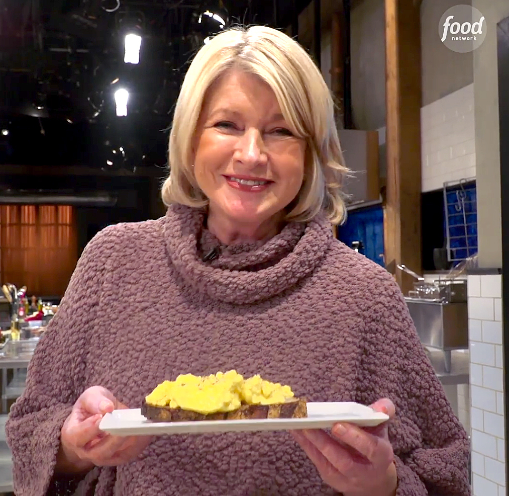 """Martha-Stewart's-Cappuccino-Eggs - The lifestyle guru caused quite a stir in January when a video of her """"very fun way to make scrambled eggs"""" surfaced. Instead of whipping up the popular breakfast food in a frying pan, as most people are wont to do, the cookbook author brought a cup of raw eggs to a cappuccino machine and let the steam wand do the work."""