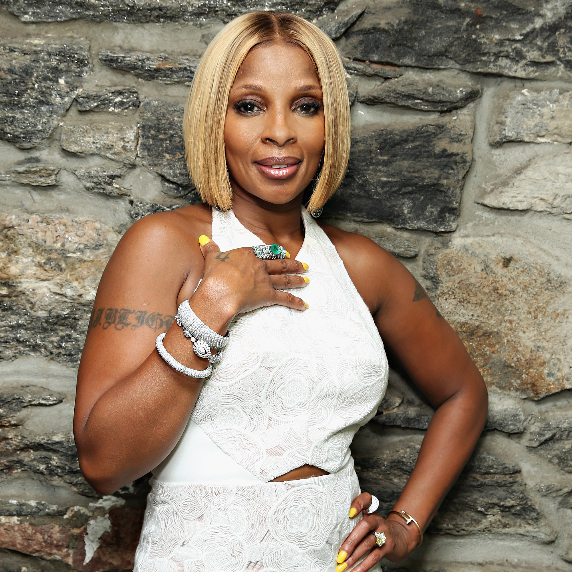 Mary-J. -Blige - The hip-hop singer's childhood involved sexual abuse at the hands of a family friend, and she was a witness to domestic abuse.