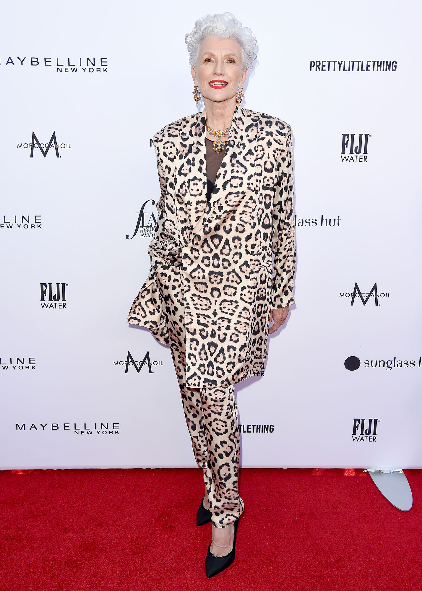 Stars Brought Their Style A-Game to the Daily Front Row Fashion Awards - The 70-year-old model really brought it with her bold animal print suit.