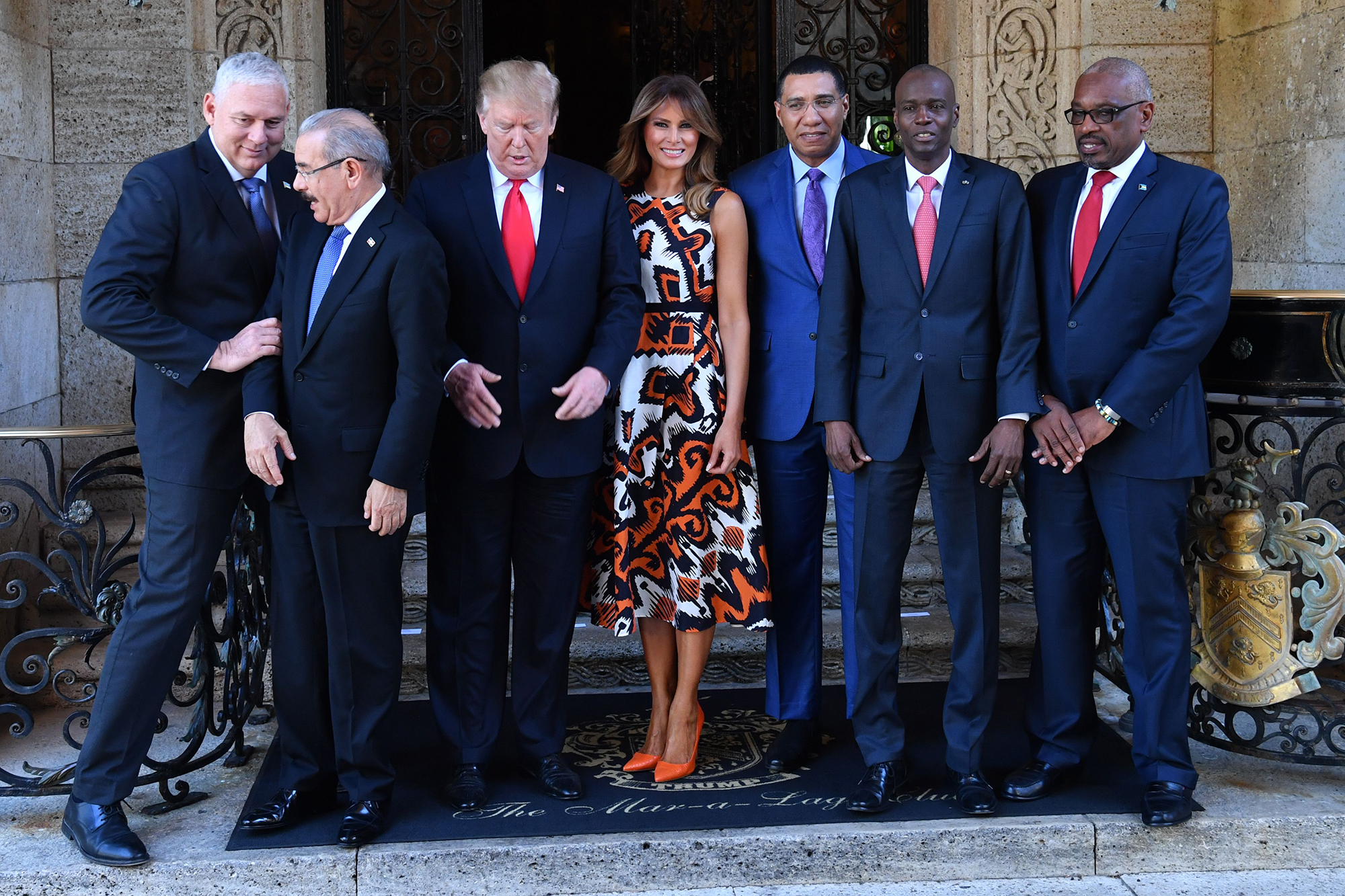 Melania Trump's Most Stylish Moments Since Taking on the FLOTUS Title - US President Donald Trump and First Lady Melania Trump host Caribbean leaders at the Mar-a-Lago estate in West Palm Beach Florida, on March 22, 2019.