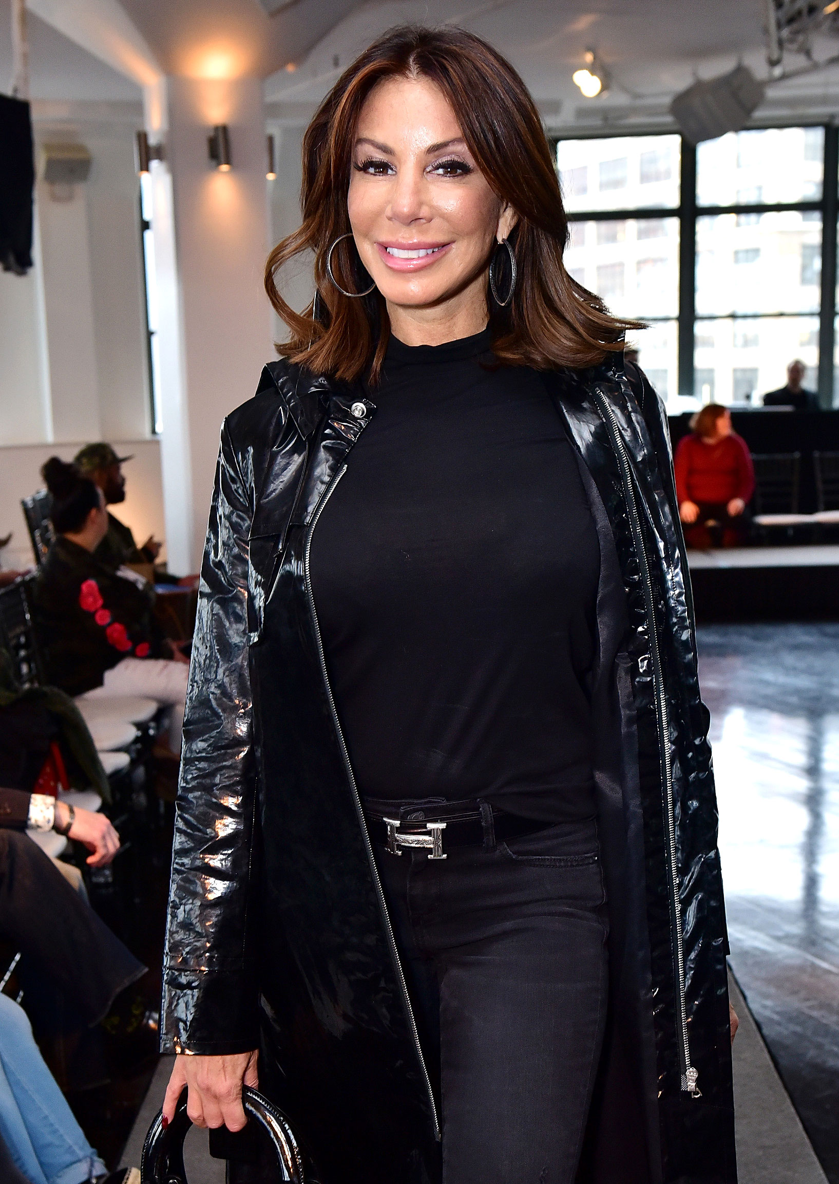 Melissa and Joe Gorga Shade Danielle Staub's 21st Engagement - Danielle Staub attends Cosmopolitan NYFW on February 8, 2019 in New York City.