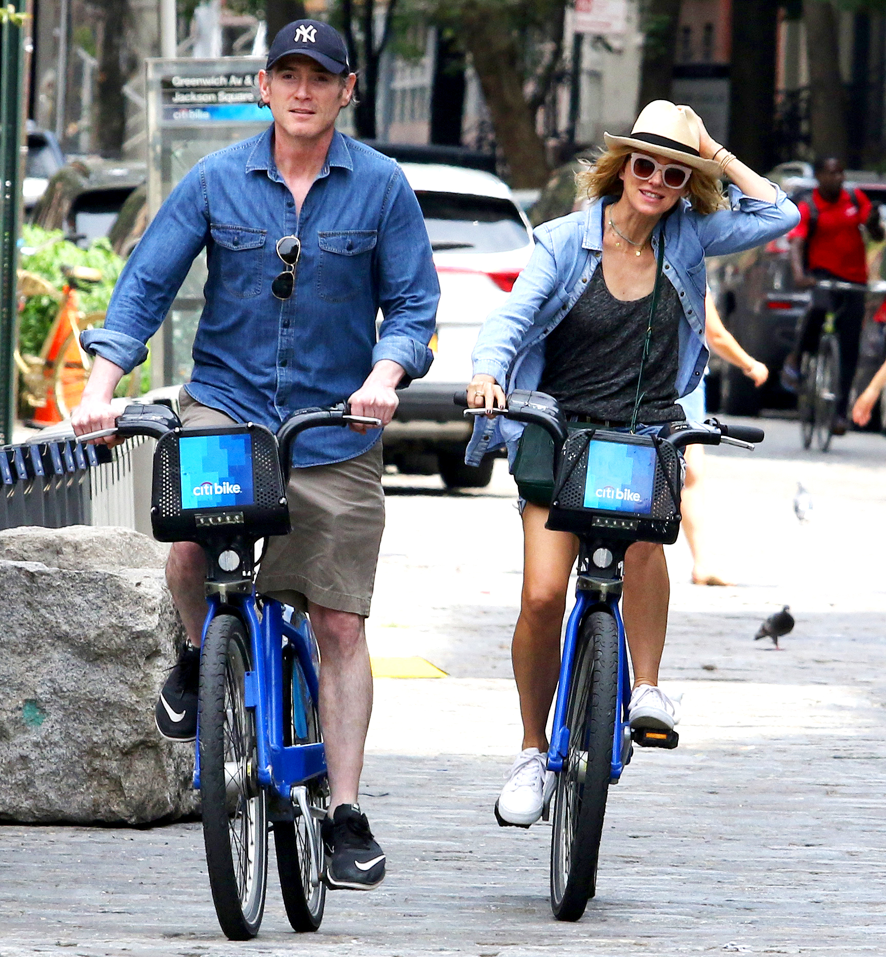 Naomi-Watts-and-Billy-Crudup-biking - The actors — who began dating after costarring in Netflix's 2017 show Gypsy — rode through NYC's West Village neighborhood after a lunch date on August 25, 2018.
