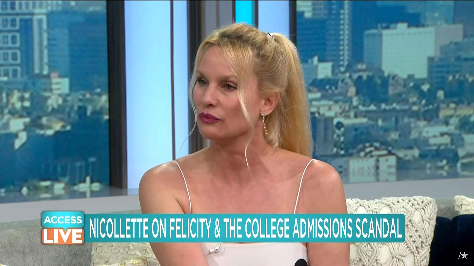 Nicollette Sheridan Slams Former Costar Felicity Huffman's College Scandal - Nicollette Sheridan appears on 'Access Live.