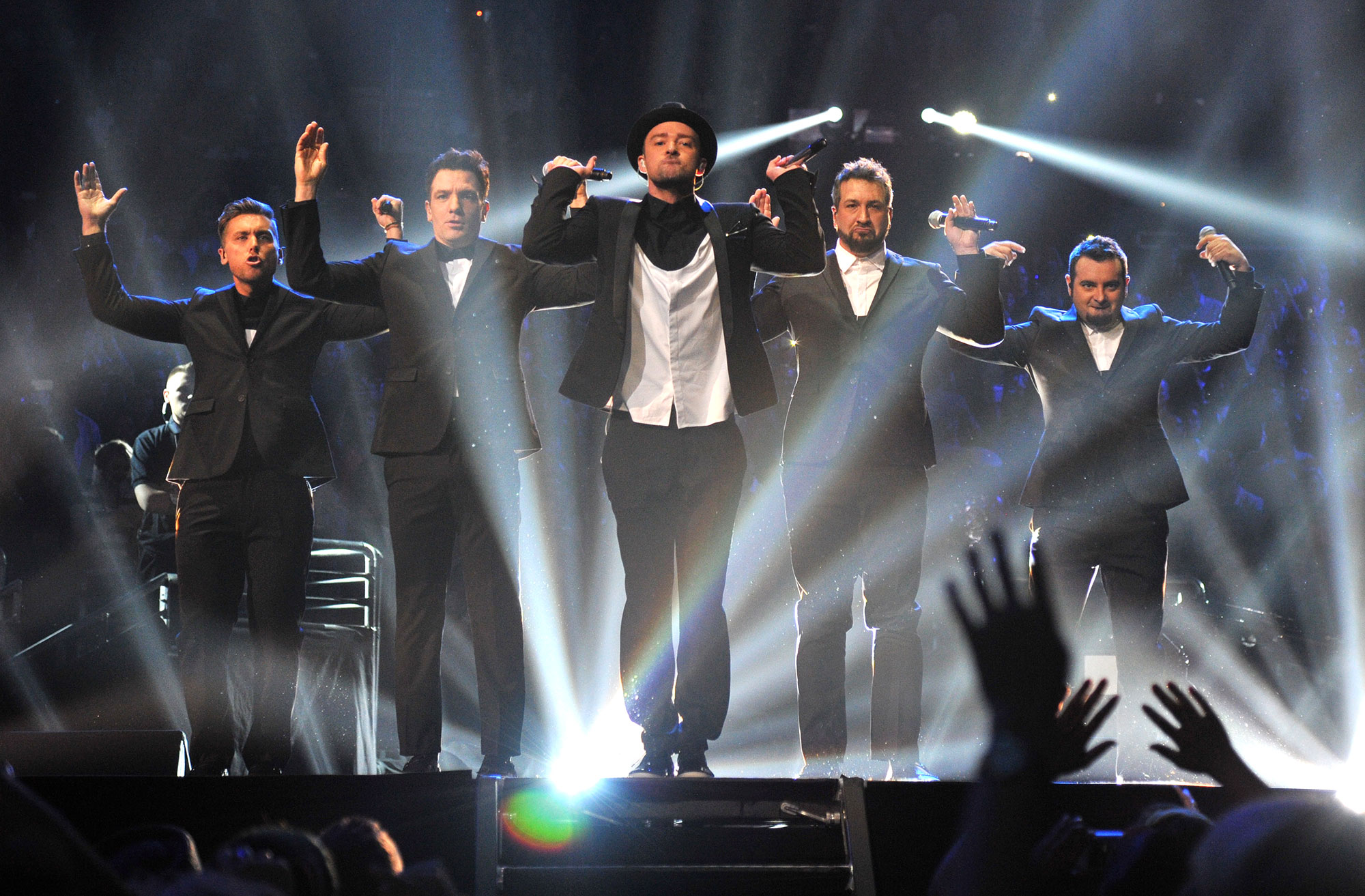 Brian Littrell Shades 'N Sync: They 'Definitely' Need Justin Timberlake - 'N Sync performs during the 2013 MTV Video Music Awards at the Barclays Center on August 25, 2013 in the Brooklyn borough of New York City.