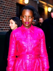 Lupita Nyong'o Looks Like the Chicest Vampire Ever on The Late Show