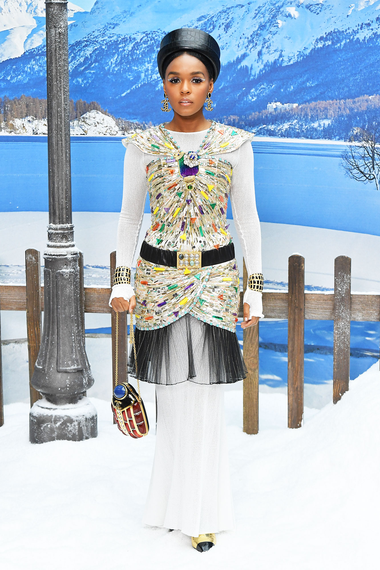 Janelle Monae Stars Continue to Wow on Day 9 of Paris Fashion Week - It was all about the (colorful!) accessories for the multi-hyphenate at Chanel on Tuesday, March 5.