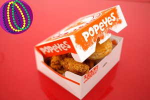 Popeyes Mardi Gras Beads Include a Box of Chicken, Don't Require Flashing