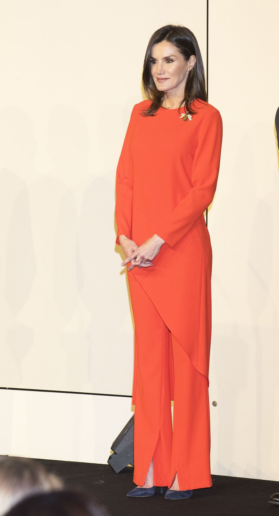Queen Letizia Wears a Zara Pantsuit and a Designer Gown in One Day