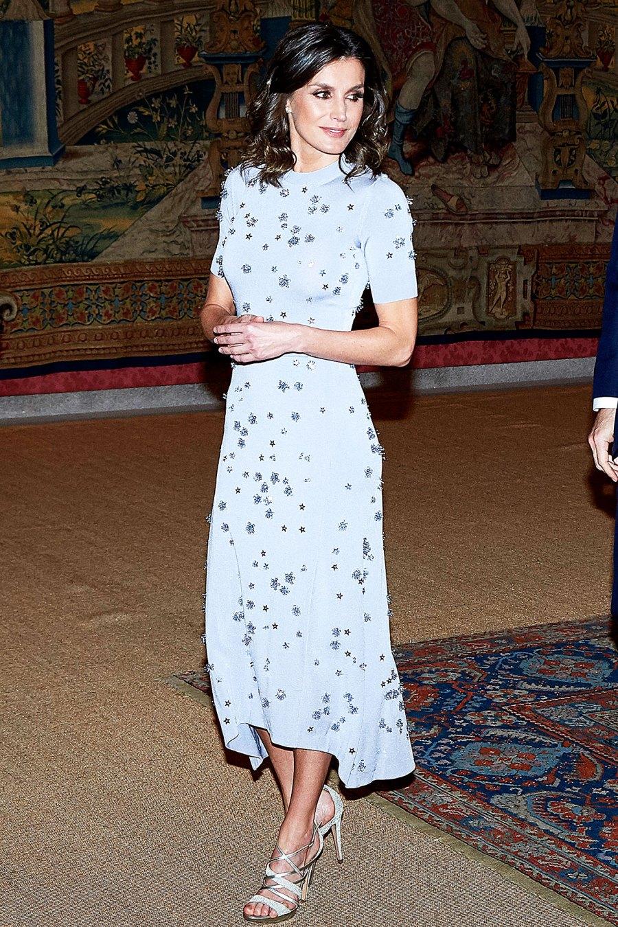 Queen Letizia of Spain Queen Letizia's Latest Dress Is a Starry Dream