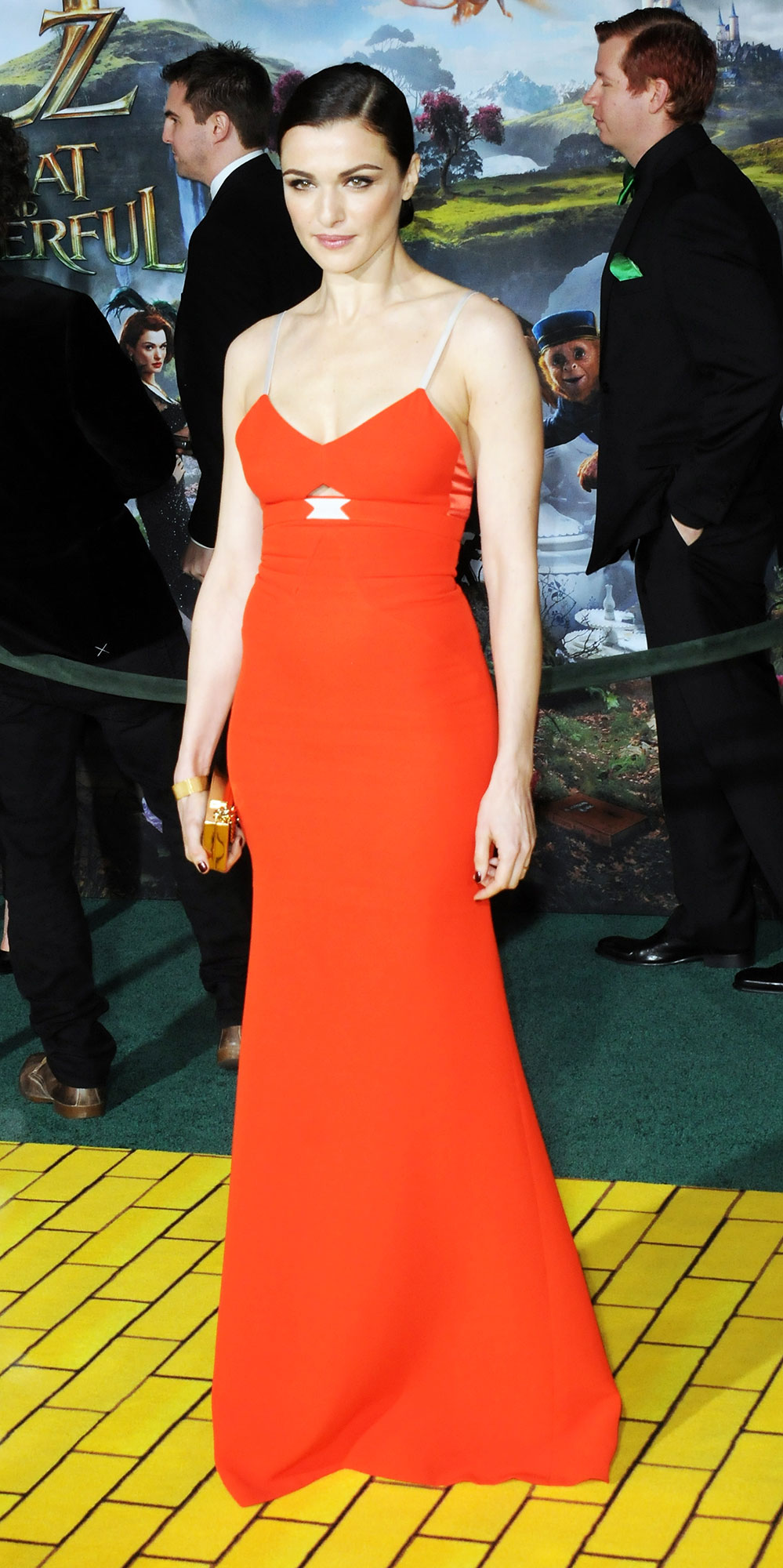 Happy Birthday, Rachel Weisz! See Her Hottest Red Carpet Looks - At the premiere of Oz the Great and Powerful, the Brit wore a slim Victoria Beckham gown in a bold tangerine hue.