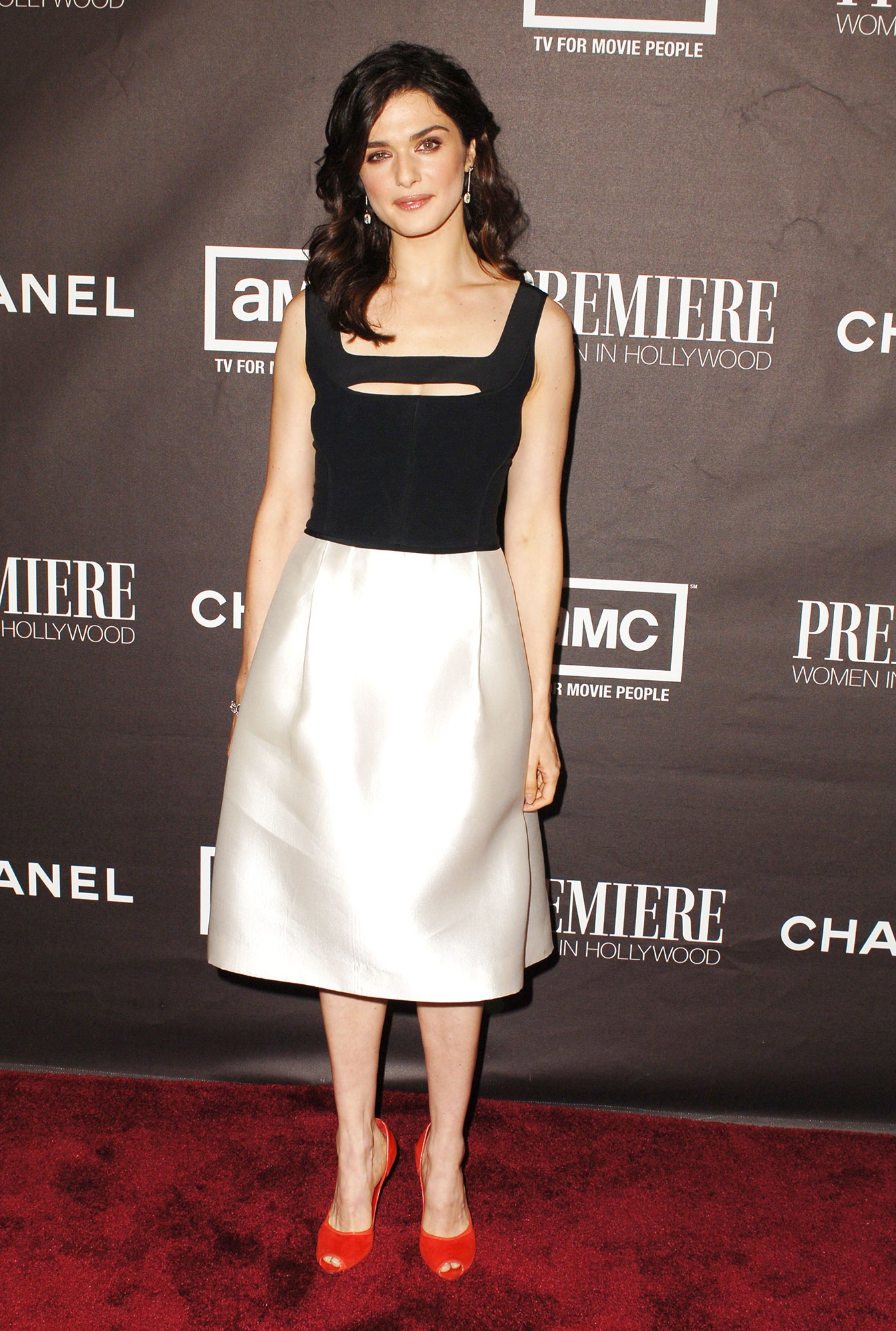 Happy Birthday, Rachel Weisz! See Her Hottest Red Carpet Looks - Originally worn to a screening of The Constant Gardener , this black and white look from the Premiere Women in Hollywood in 2005 proved versatile.