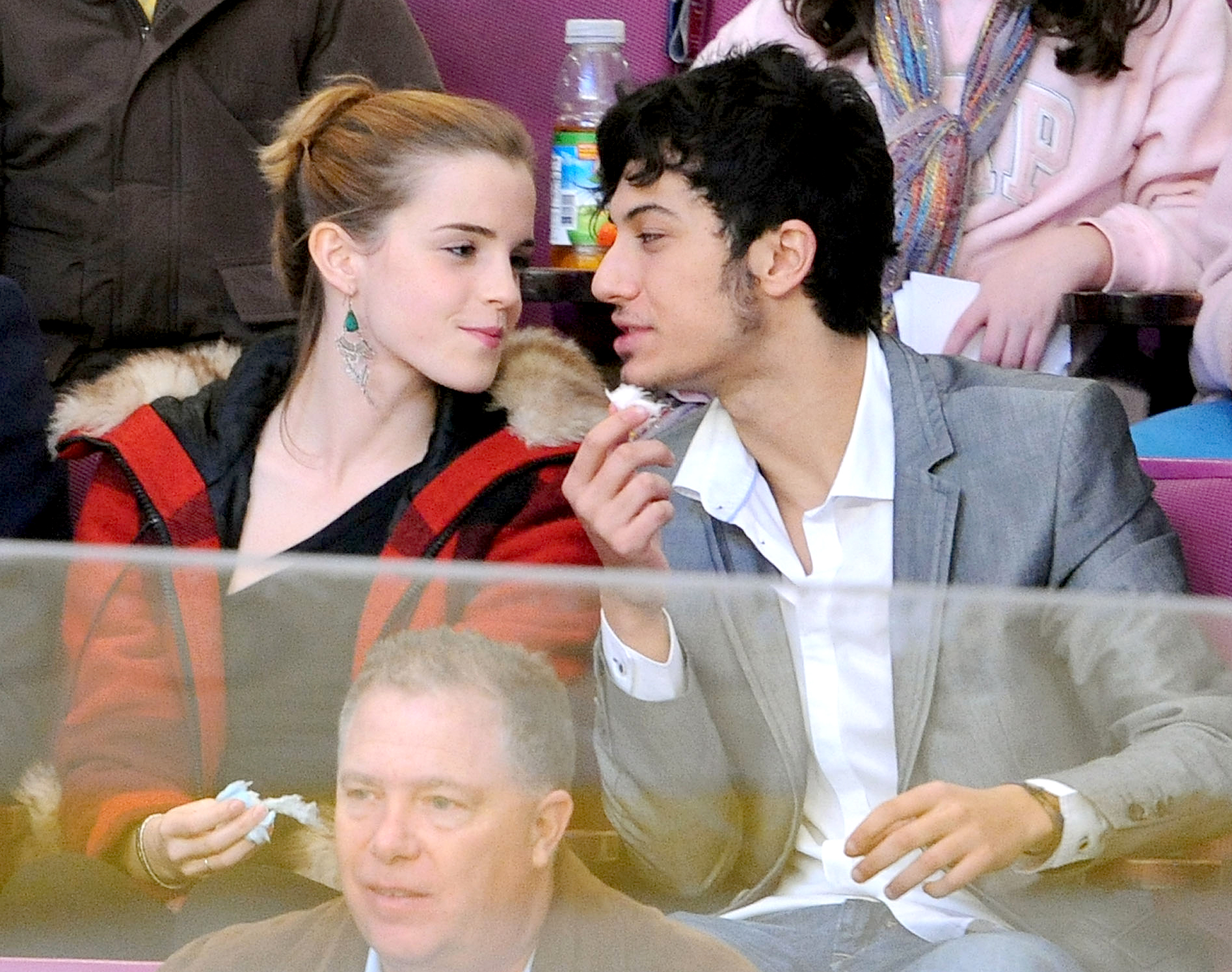 Rafael-Cebrián-Emma-Watson - The British actress met the Spanish musician at Brown University and were spotted getting cozy at a New York Rangers game in November 2009. They split in May 2010.