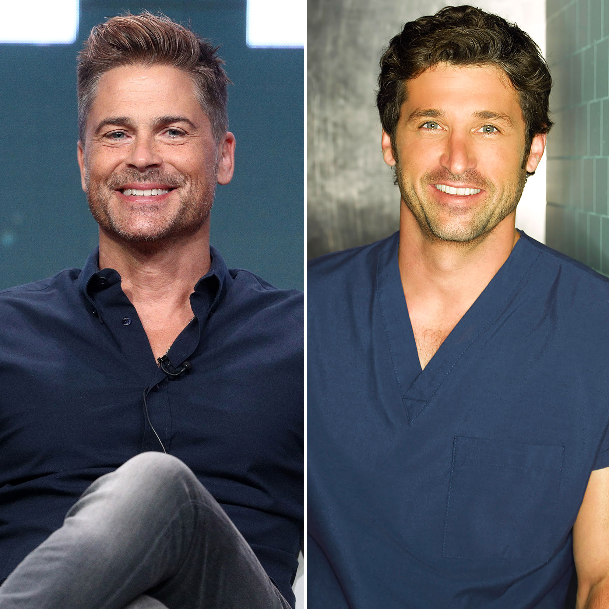 Rob Lowe Jokes McDreamy Greys Anatomy Role Cost Him 70 Million - Rob Lowe and Patrick Dempsey as Derek Shepherd.