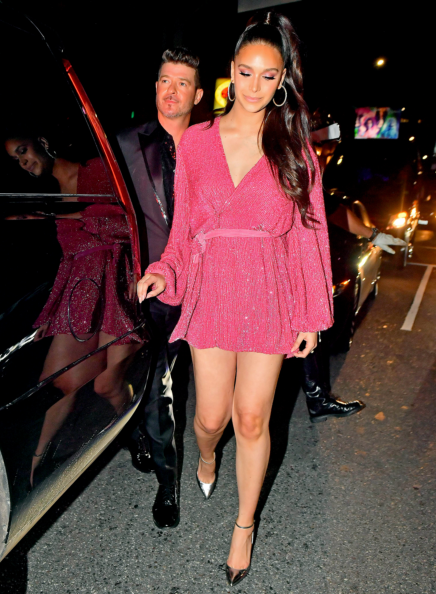 Robin-Thicke-and-April-Love-Geary-Diana-Ross-birthday - Thicke's fianceé, April Love Geary , was by his side during the bash.