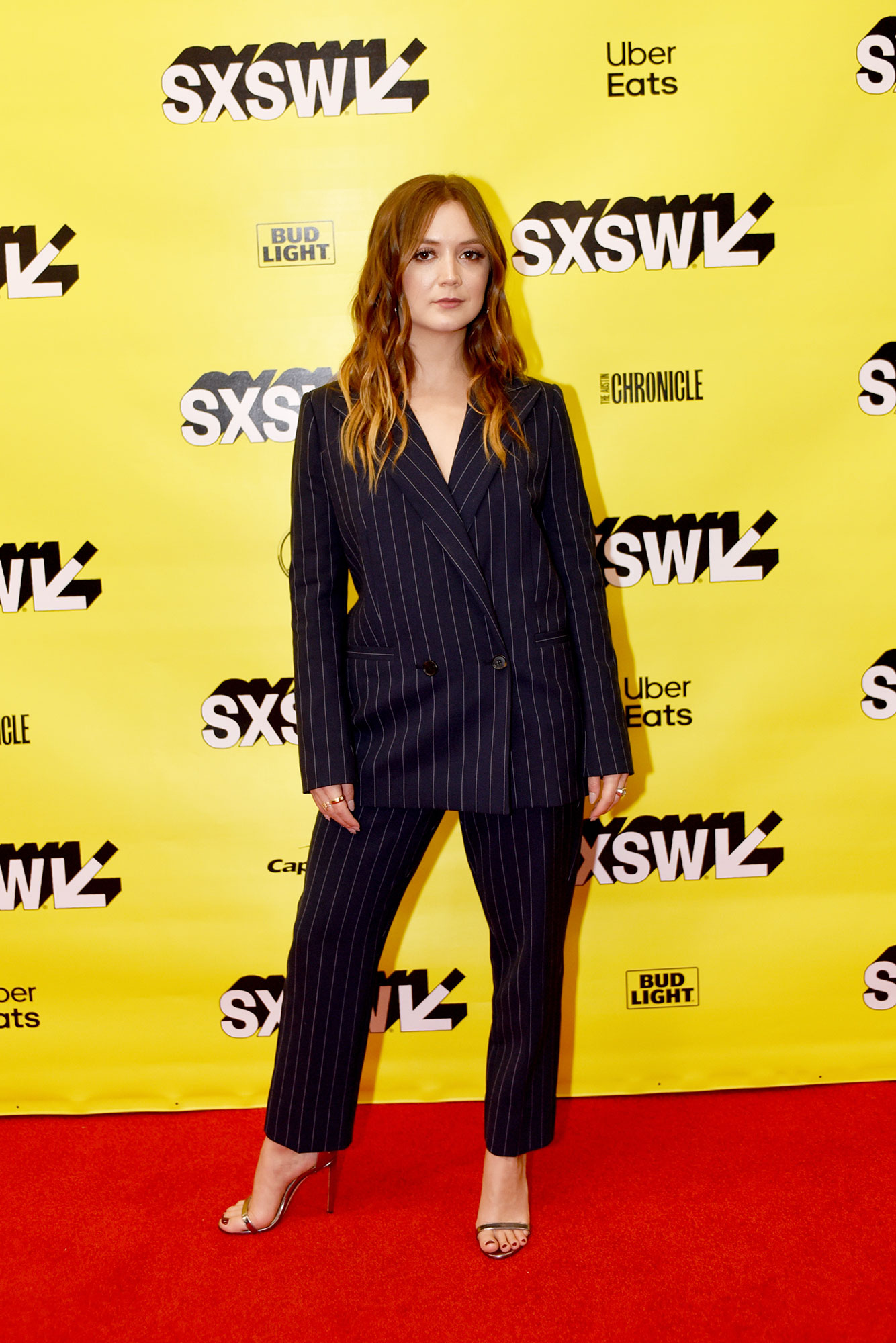 Billie Lourd SXSW Is Giving Us Chic Outfit Inspo for Spring - We love the boss-lady vibes of the Booksmart actress' slouchy pinstripe suit on Monday, March 11.