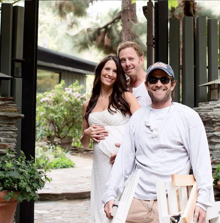 Ian Ziering Shares Sweet Story About Luke Perry Watching Out for His Baby - Erin Ludwig, Ian Ziering and Luke Perry