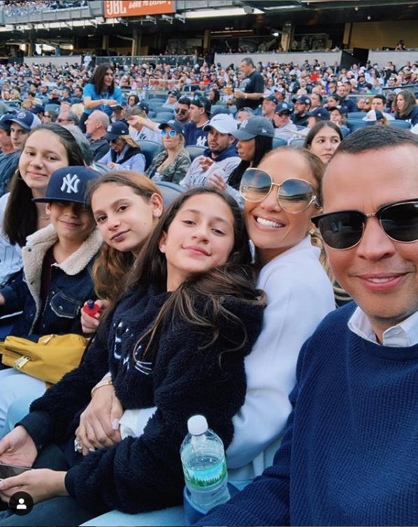 Jennifer Lopez, Alex Rodriguez Take Their Kids to a Yankees Game - Alex Rodriguez, Jennifer Lopez