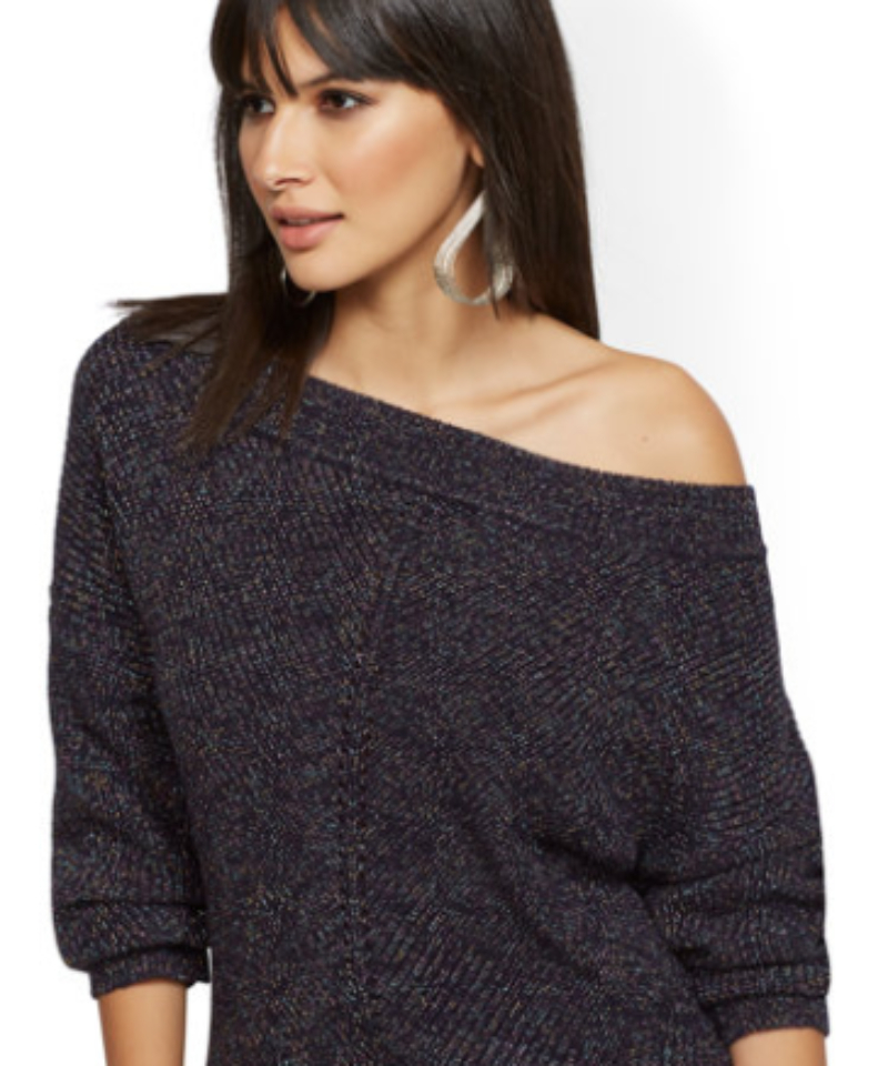 Shimmering Sweater Blue