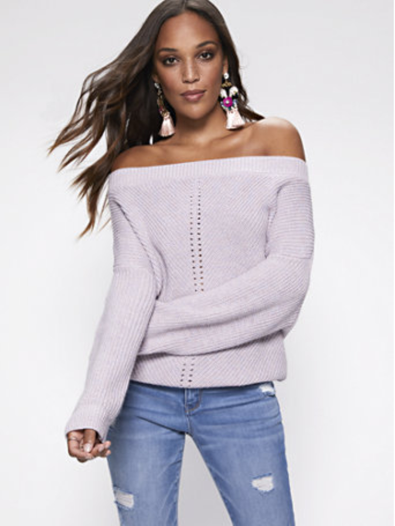 Shimmering Sweater Purple