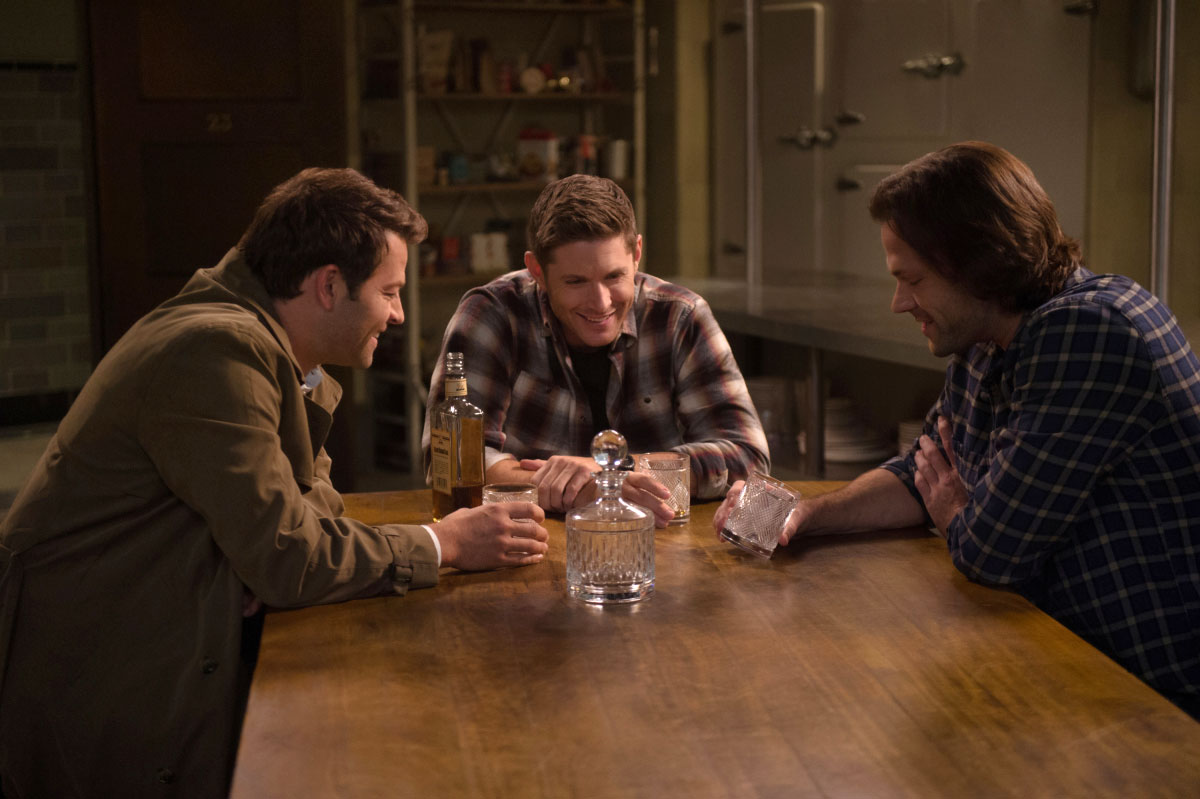 Supernatural' Will End After Season 15 - Misha Collins as Castiel, Jensen Ackles as Dean and Jared Padalecki as Sam in 'Supernatural.'