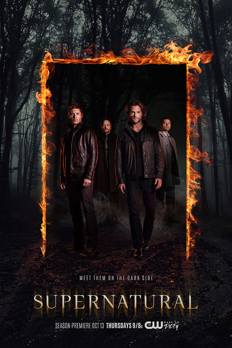 Supernatural' Will End After Season 15 - Jensen Ackles as Dean, Mark Sheppard as Crowley, Jared Padalecki as Sam, Misha Collins as Castiel in 'Supernatural.'