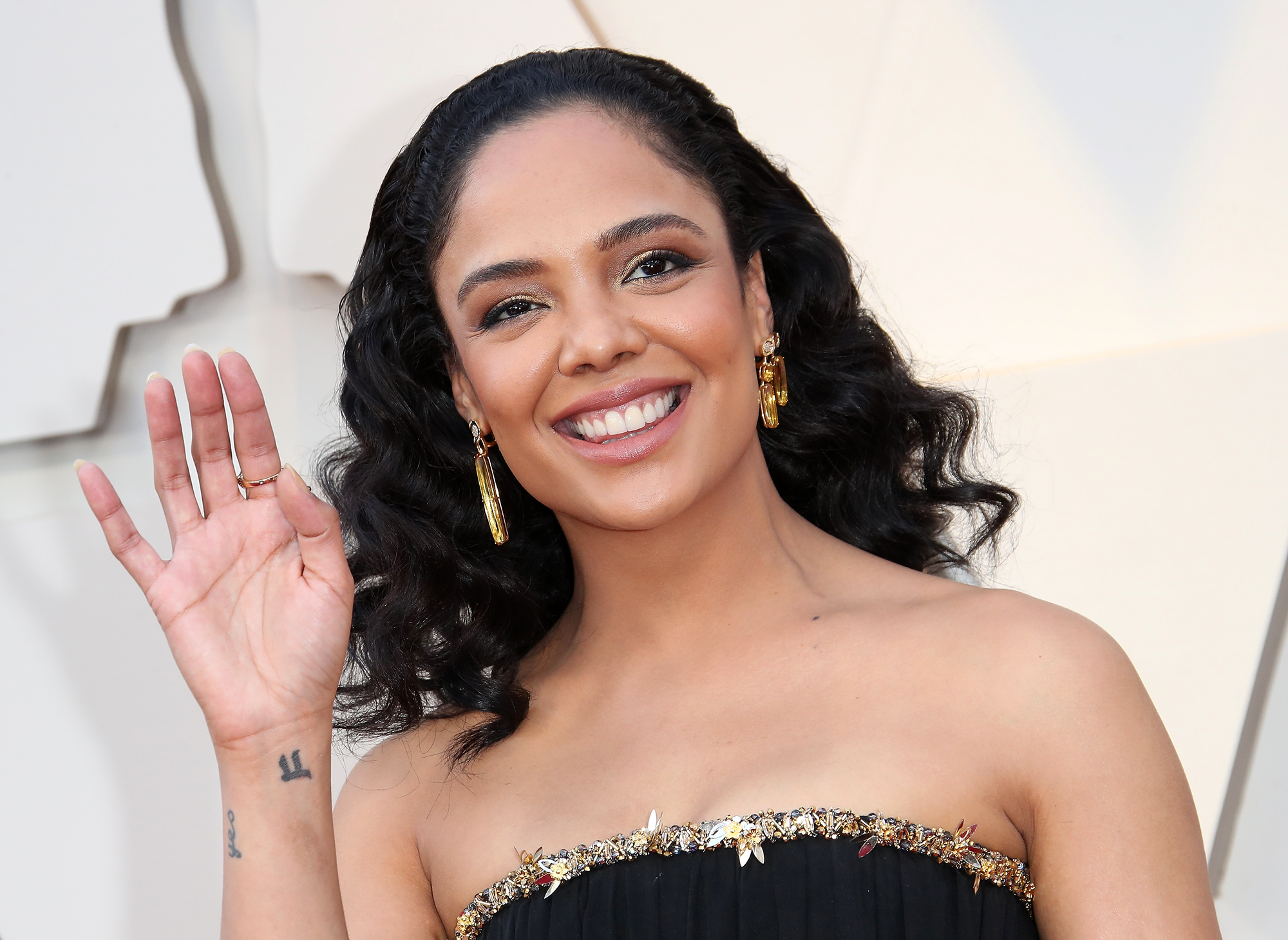 Tessa-Thompson-lipstick-oscars - Tessa Thompson attends the 91st Annual Academy Awards at Hollywood and Highland on February 24, 2019 in Hollywood, California.